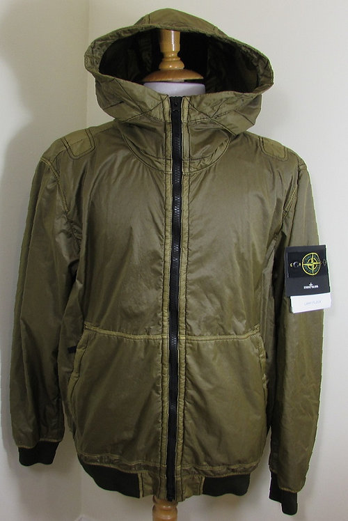691544435 Stone Island 'Lamy Flock' Hooded Jacket in Green (V0058)