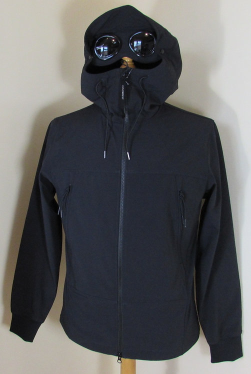 04CMOW028A C.P. Company 'Shell' Goggle Hood Jacket in Total Eclipse Navy (888)