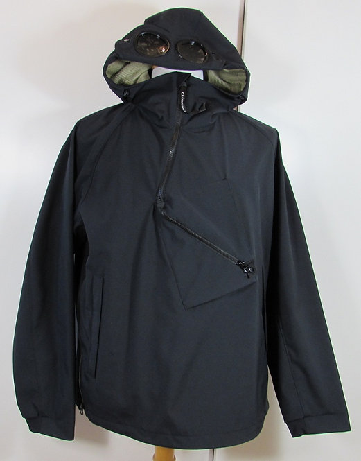 06CMOW017A C.P. Company 'Shell' Overhead Goggle Hood Jacket - Total Eclipse Navy