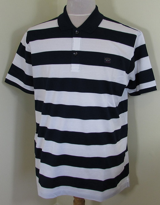 C0P1012 Paul & Shark Polo Shirt in Navy and White stripes (139)