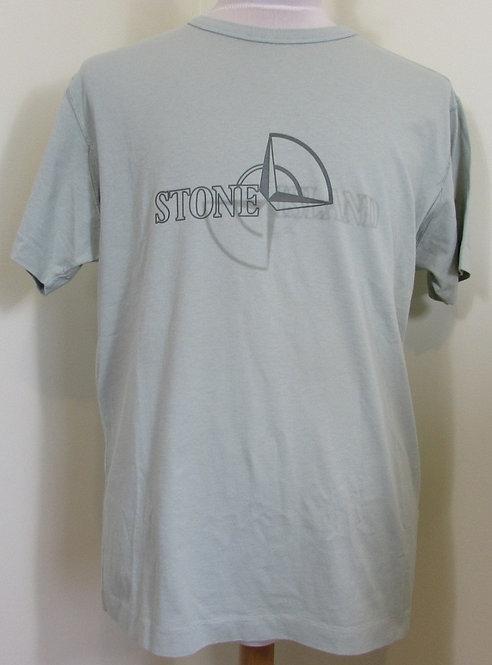 711523381 Stone Island Round Neck Tee Shirt in Green (V0064)