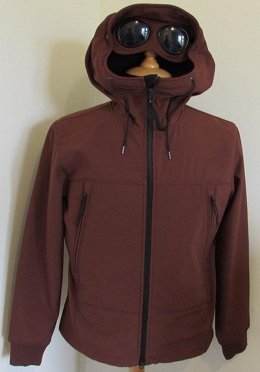05CM0W001A C.P. Company 'Shell' Goggle Hood Jacket in Tortoise Shell (350)