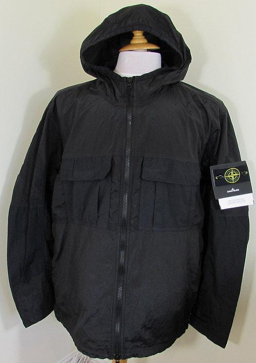 701543632 Stone Island 'Nylon Metal Watro Ripstop' Hooded Jacket - Black (V0029)