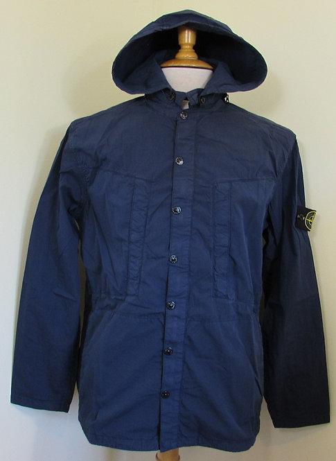 561510820 Stone Island 'Hydrophobic' Hooded Jacket/Overshirt in Navy.