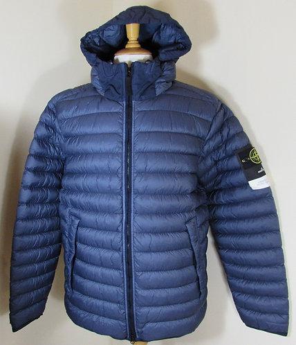 651543824 Stone Island 'Garment Dyed Micro Yarn Down' Hooded Jacket in Blue