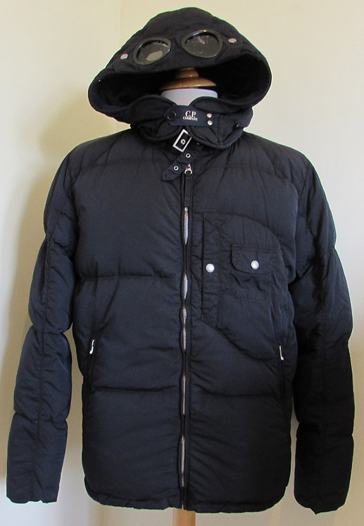 CPU0367 C.P. Company 'Down' Goggle Hood Jacket in Navy (888)