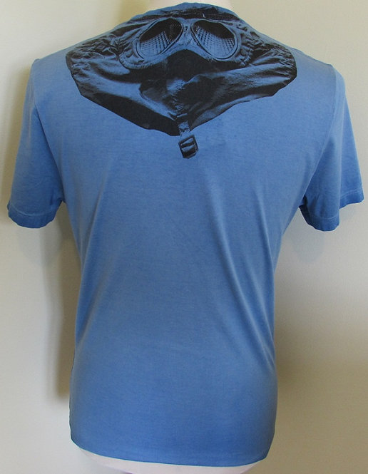 04CMTS073A C.P. Company 'Rear Goggle Print' Tee Shirt in Blue (854)