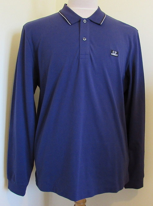 08CMPL070A C.P. Company Long Sleeved Polo Shirt in Purple (878)