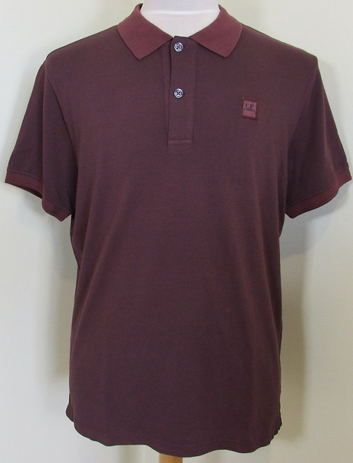 03CMPL044A C.P. Company 'Tacting' Polo Shirt in Red (596)