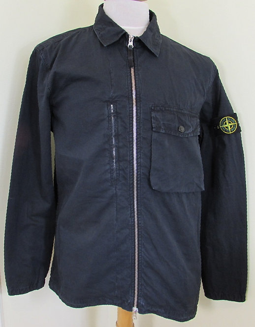 7015121WN Stone Island Old Effect Overshirt in Navy (V0120)