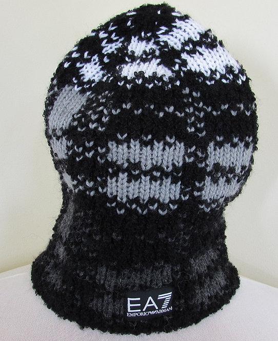 S76720 7A394 Emporio Armani EA7 Beanie Hat in Black (00020)