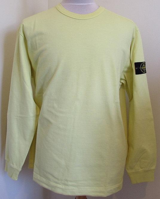 721564450 Stone Island Round Neck Sweatshirt in Yellow (V0031)