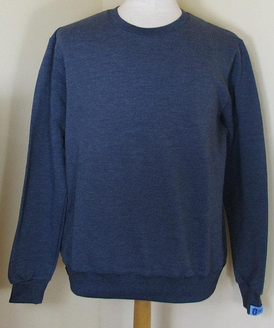 COUP 'Guinan' Round Neck Sweatshirt in Free Denim