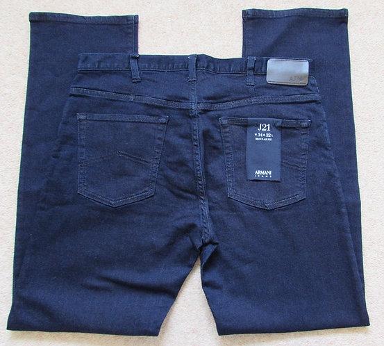 8N6J21 6DLPZ J21 Armani Jeans Regular Fit in Dark Denim - Denim Indaco (1500)