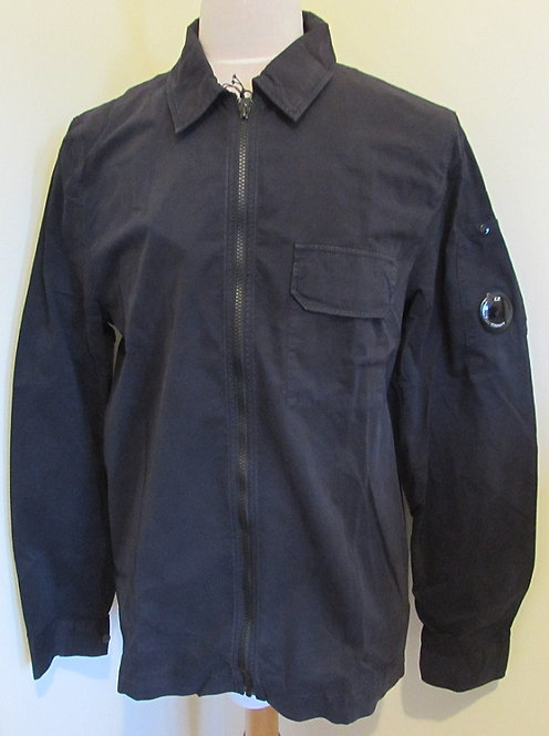 07CMSH230A C.P. Company Gabardine Overshirt in Navy (888)