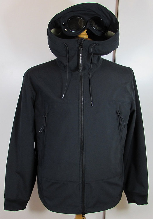 06CMOW012A C.P. Company 'Shell' Goggle Hood Jacket in Total Eclipse Navy (888)