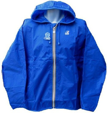 K-WAY 'CLAUDE' Hooded Rain Jacket in ROYAL BLUE