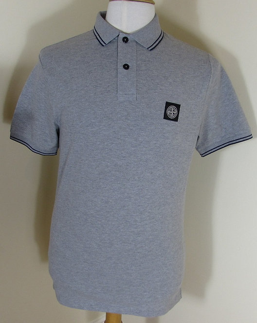 651522S18 Stone Island Short Sleeve Polo Shirt in Grey (V1064)