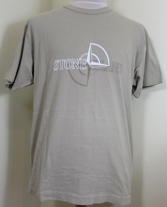 711523381 Stone Island Round Neck Tee Shirt in Beige (V0095)