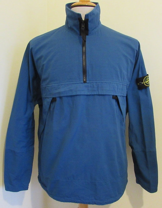 731510802 Stone Island Ripstop Smock Overshirt in Periwinkle Blue (V0120)
