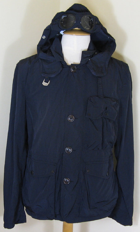 CPUB04335 CP Company Goggle Hood Jacket in Navy (888)