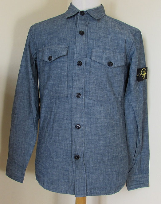 661510512 Stone Island long sleeve shirt in Chambray (WASH)