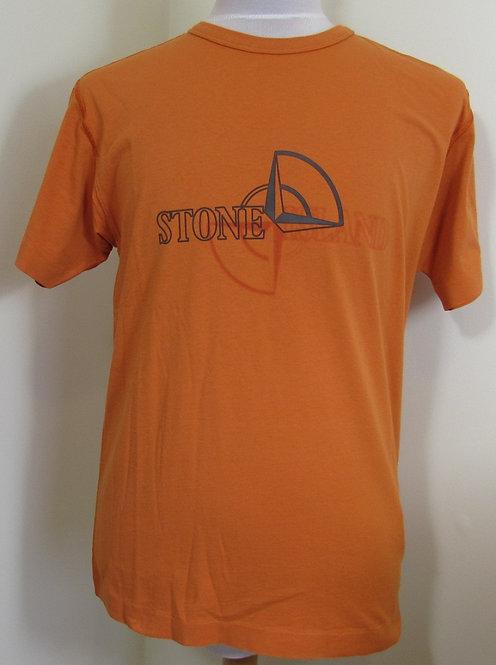 711523381 Stone Island Round Neck Tee Shirt in Orange (V0032)