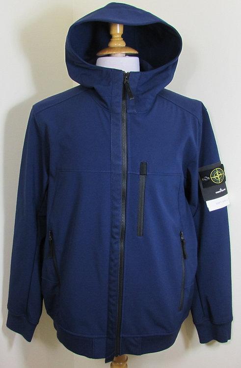 6915Q0522 Stone Island 'Soft Shell-R' Hooded Jacket in Royal Blue (V0026)