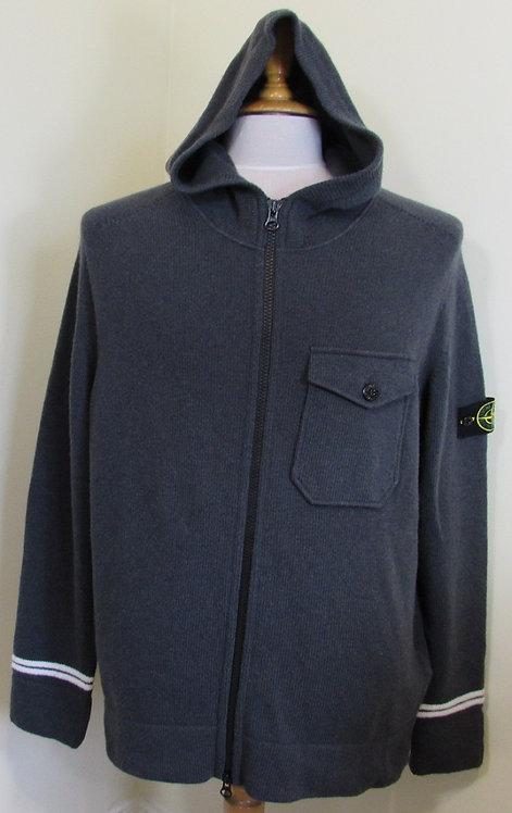 7115539A3 Stone Island Hooded Full Zip in Grey (V0067)