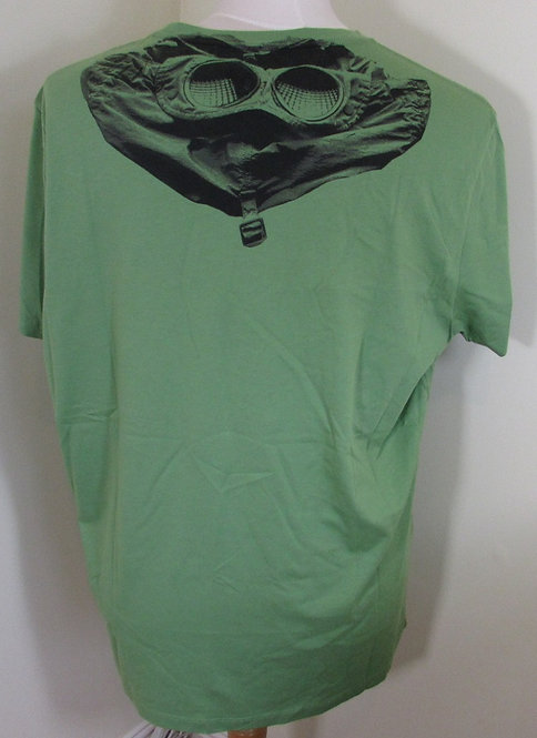 04CMTS073A C.P. Company 'Rear Goggle Print' Tee Shirt in Green (618)
