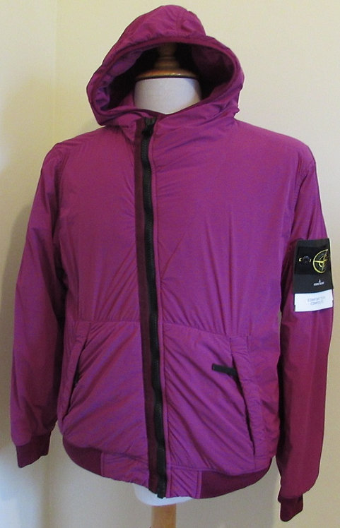 691543328 Stone Island 'Comfort Tech Composite' Hooded Jacket in Mauve (V0045)