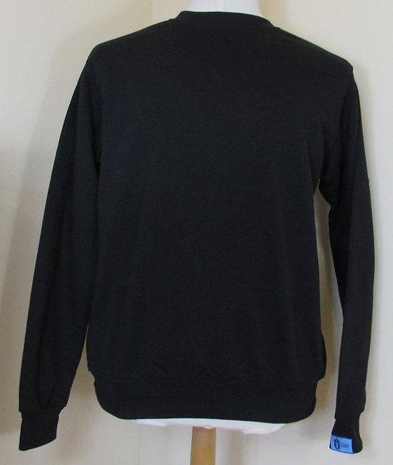 COUP 'Guinan' Round Neck Sweatshirt in Depth Black