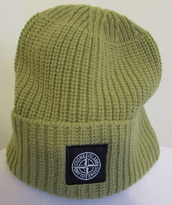 7115N10B5 Stone Island Beanie Hat in Green (V0034)
