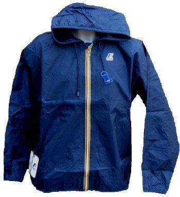 K-WAY 'CLAUDE' Hooded Rain Jacket in NAVY BLUE