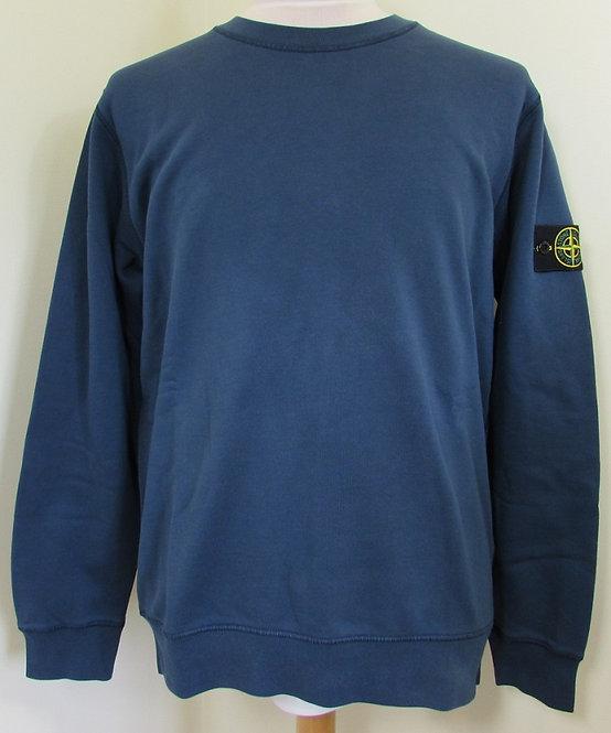721563051 Stone Island Round Neck Sweatshirt in Marine Blue (V0028)