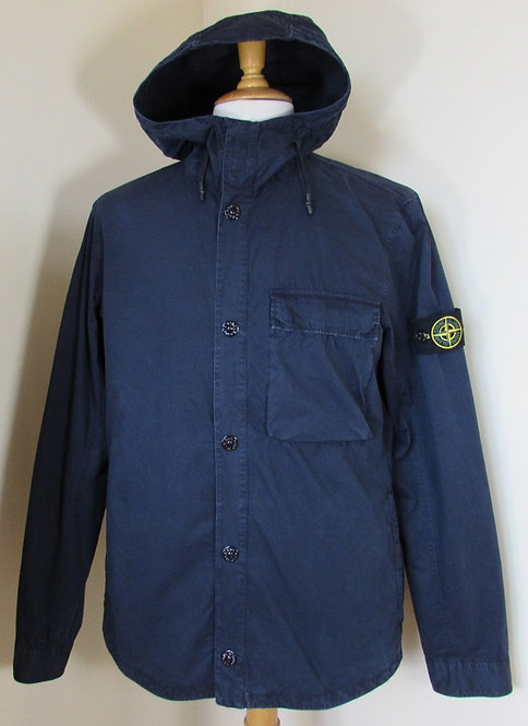 6815118WN Stone Island Hooded Jacket/Overshirt in Navy (V0120)