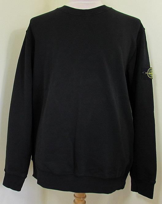 721563051 Stone Island Round Neck Sweatshirt in Black (V0029)