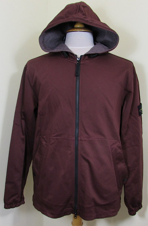 711511915 Stone Island Hooded Jacket/Overshirt in Dark Red (V0011)