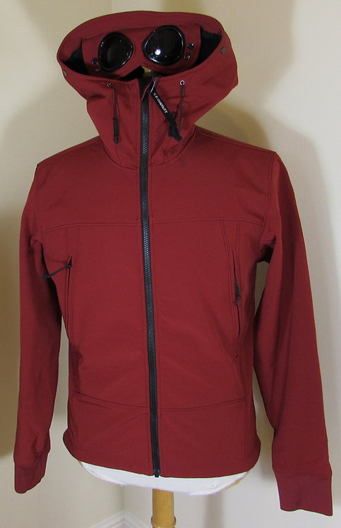 15WCPUF02258 C.P. Company Soft Shell Goggle Hood Jacket in Red (585)