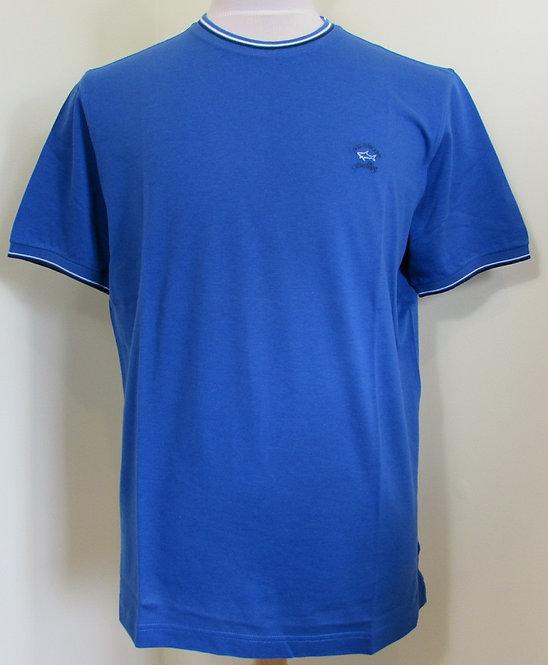 E16P0089 Paul & Shark Tee Shirt in Royal Blue (726)