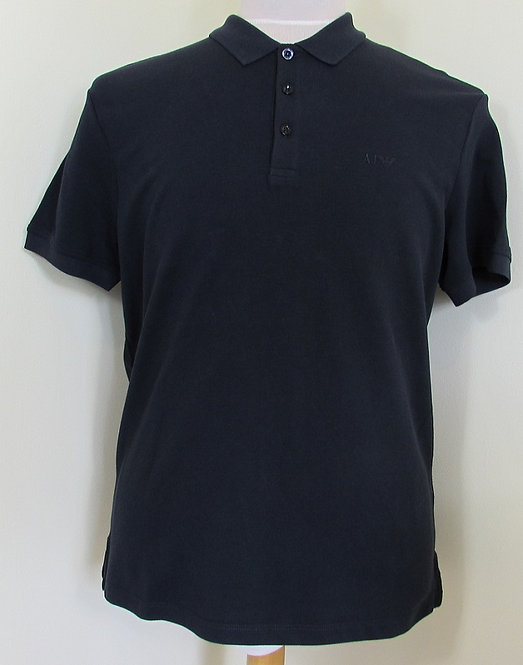 8N6F12 6J0SZ Armani Jeans Polo Shirt in Navy (1579)