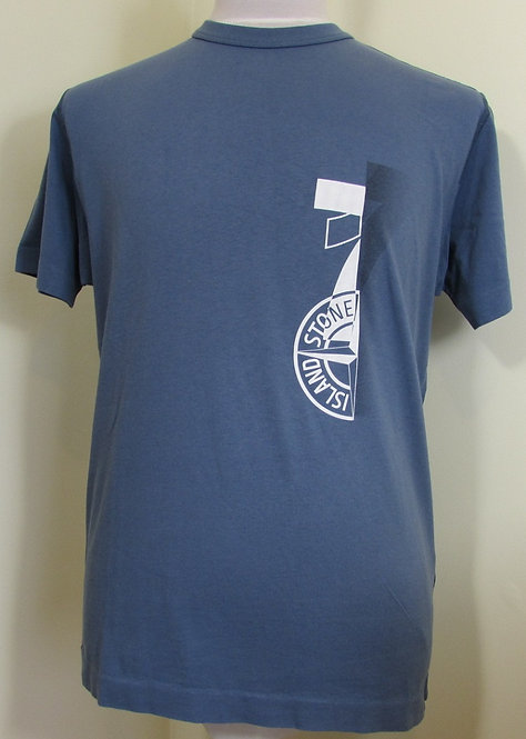 711523382 Stone Island Round Neck Tee Shirt in Slate Blue (V0024).
