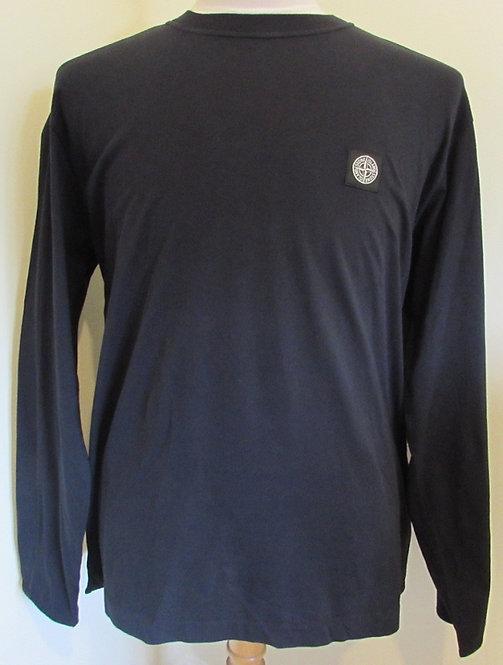 671520541 Stone Island Long Sleeve Tee Shirt in Navy (V0020)
