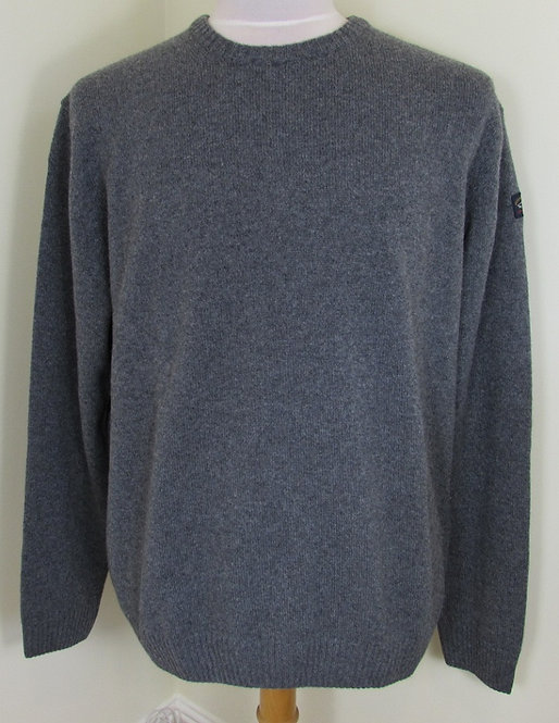 C0P1061 Paul & Shark 'Colours of Shetland' Round Neck Knit in Grey (451)