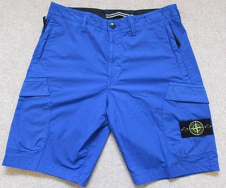7015L0803 Stone Island Cargo Shorts in Blue (V0043)