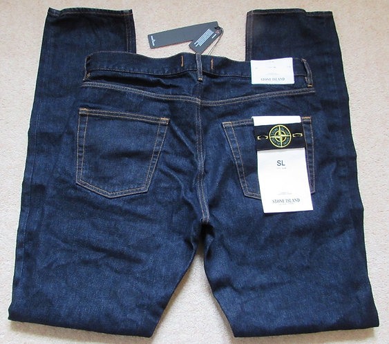 6415J1BI1 Stone Island SL Jeans in Dark Denim (WASH)