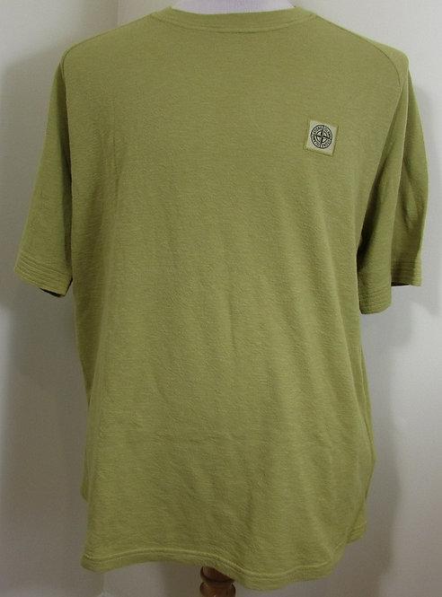 711521711 Stone Island Round Neck Tee Shirt in Green (V0034)