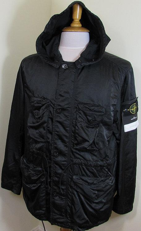 751544430 Stone Island 'Nylon Raso-TC' Hooded Jacket in Black (V0029)