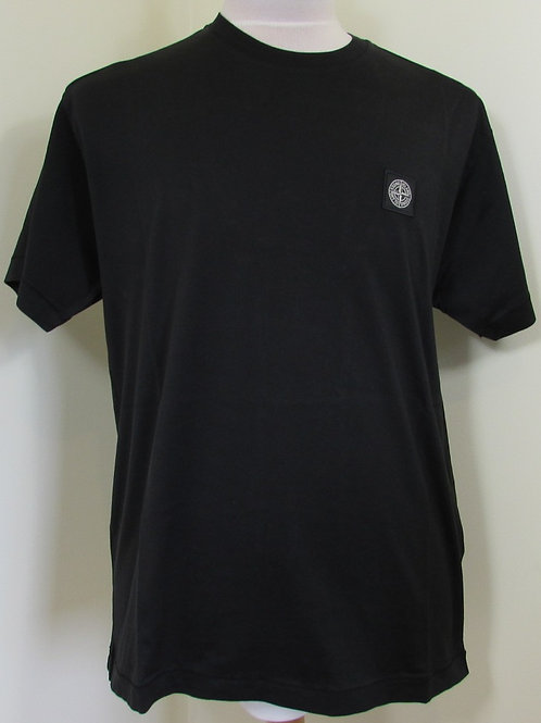 721524113 Stone Island Round Neck Tee Shirt in Black (V0029)