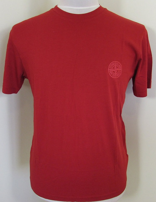 601520183 Stone Island Round Neck Tee Shirt in Red (V0010)